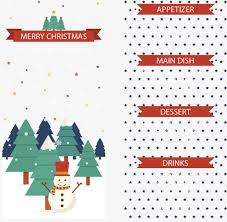 snowman christmas menu png and vector for free download