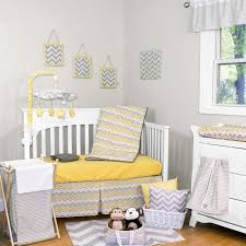 Gray Chevron Bedding Yellow And Gray Chevron Bedding For Baby Sophisticated Yellow
