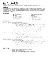 administration resumes resume of administrative assistant resume template