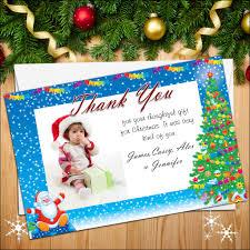 10 personalised christmas thank you cards santa photo frame n23