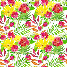 tropical floral print u2014 stock photo olies 86962132