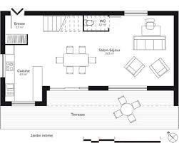 plan maison cuisine ouverte plan cuisine ouverte sur salon 1 cuisine leicht ouverte