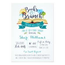 baby shower brunch invitations books and brunch baby shower invitation zazzle