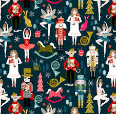 nutcracker fabric nutcracker ballet xmas holiday christmas