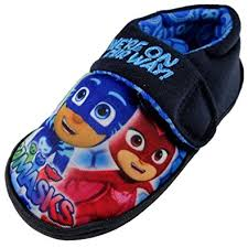 pj masks light up shoes boys pj masks navy soft touch character house slipper shoes 4 10