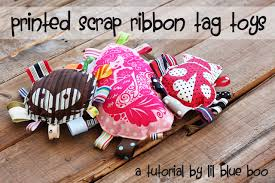 Baby Dog Tags Scrap Ribbon Tag Toy Tutorial