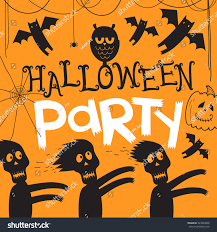 free halloween orange background pumpkin happy halloween party text design on stock vector 324892058