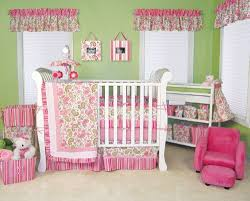 Pink And Green Nursery Decor Trend Lab Baby Nursery Room Paisley Park 3pc Crib Bedding Set