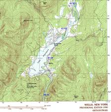 Malone Ny Map Ny Route 30 The Adirondack Trail Wells Area Topographic Map