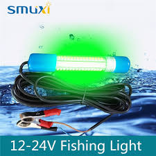 led fish attracting lights smuxi 8w submersible led light bulb tube green underwater boat night