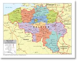 map of begium political map of belgium with provincial state boundaries