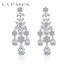 chandelier earrings 2018 heavy weight chandelier earrings 18k white gold plated luxury