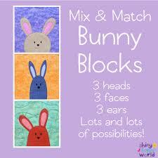 free bunny applique pattern with fun mix u0026 match parts shiny