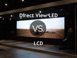 lcd vs led video displays infographic best led display screen