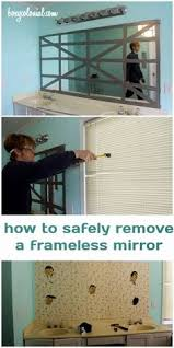 How To Remove Bathroom Mirror How To Remove A Bathroom Mirror I Always Wanted To This