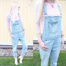 soyeon choi gant pink striped shirt seppälä suspender jeans