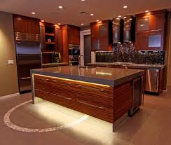 Led Backsplash by Led Counter Lighting Kitchen Contemporary With Lucite Square