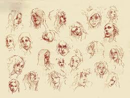 faces sketch study 4 by silentjustice on deviantart