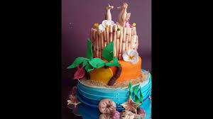 hawaiian themed wedding cakes hawaiian themed wedding cake