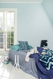 Light Blue Bedroom by Light Blue Bedroom Color Alcro Havsbris Cusions And Bed Covers In