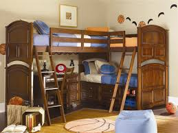 3 Bed Bunk Bed Boys Loft Beds Design Glamorous Bedroom Design