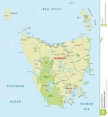 Iceland Map World Road Map Of The Australian Iceland Tasmania Stock Vector Image