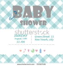 baby shower for baby shower boy invitation template stock vector 541563337
