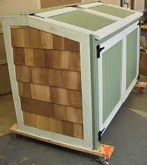 trash can storage shed plans backyard sheds