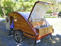 give up tenting in the rain build an rv teardrop trailer from