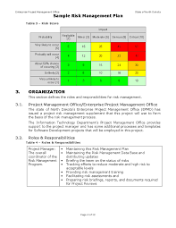 doc 1142680 project risk management template u2013 risk impact