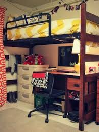Dorm Desk Bookshelf Bookshelf At End Of Bed With Curtain Rod Attached This Might