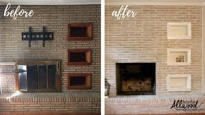 Painting Exterior Brick Wall - we u0027ve a brick house the best updates for brick fireplaces