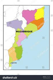 Mozambique Map Administrative Map Mozambique Stock Illustration 149162756