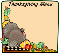 free thanksgiving menu clip clipartxtras