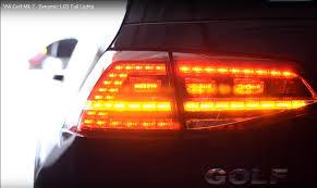 vw led tail lights golf mk 7 r dynamic tail lights led adapter kit rear led dynamic