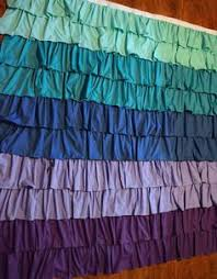 Purple Ombre Curtains Ruffles And Things Link Blue Ruffle Ombre Shower Curtain