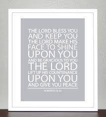Scottish Love Quotes by Baptism Gift Bible Verse Numbers 6 8x10 Print