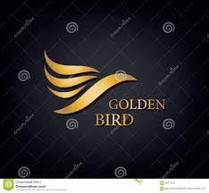 golden phoenix bird brand animal logo luxury brand identity for
