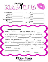 bachelorette party game the naughty mad lib each bach can fill