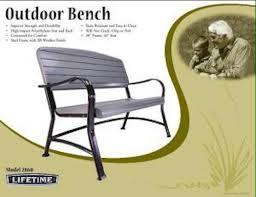 Lifetime Outdoor Furniture New Lifetime 2871 Patio Swing Porch Rocker Glider Bench