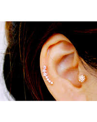 awesome cartilage earrings amazing shopping savings cz dainty curved cartilage earring