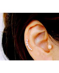 ear climber earrings amazing shopping savings cz dainty curved cartilage earring