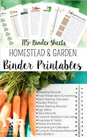 printable vegetable planner 2018 homestead management printables homesteads binder and planners