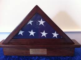 Flag Displays Memorial Flag Display Case With Etched Seal