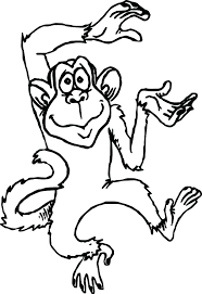 printable coloring pages monkeys coloring pages cartoon monkey printable coloring pages medium size
