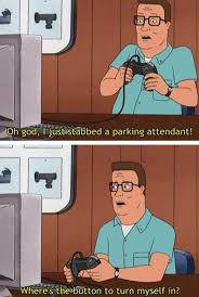 King Of The Hill Meme - hank playing video games on king of the hill