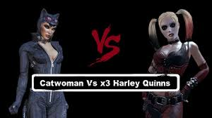 harley quinn arkham city halloween costume 1vs3 batman arkham city catwoman vs x3 harley quinns youtube