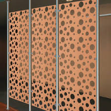 metal room divider in classic metal collection perforated aluminum