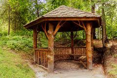 Summer House In Garden - summer garden chalet stock photo image 68253115