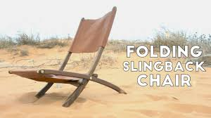 Diy Folding Chair Storage Diy Folding Wood And Leather Slingback Chair Modern Builds Ep
